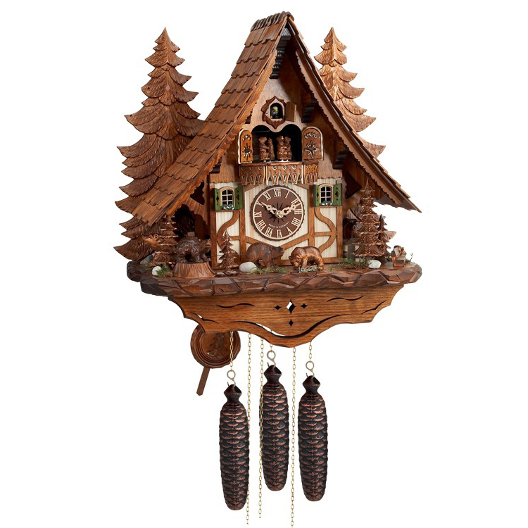 Musical chalet cuckoo clock house of clocks - The dancing chalet ...