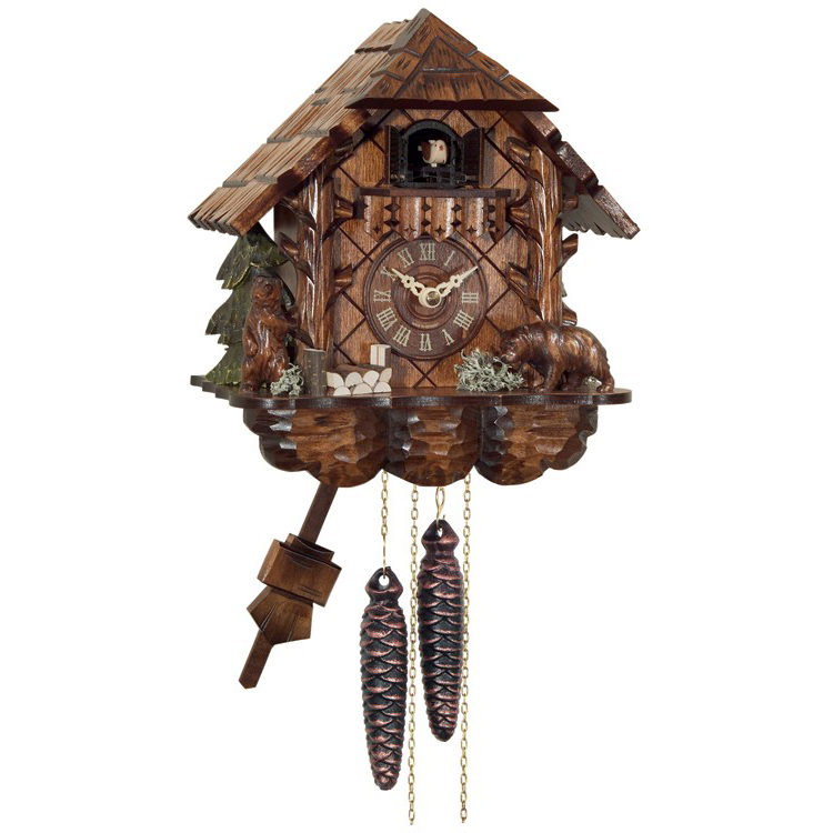 cottage with bears cuckoo clock