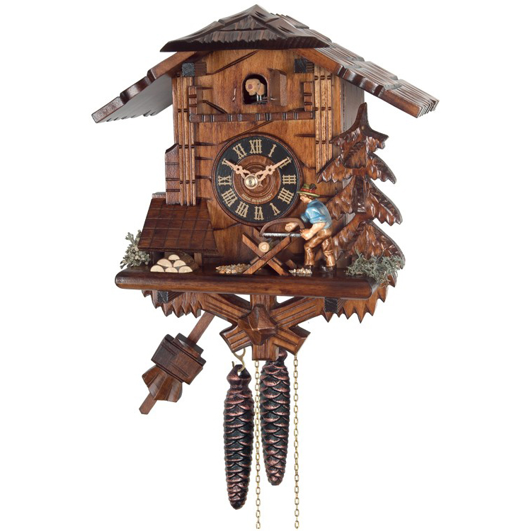 Cuckoo clock man sawing house of clocks How to make a cuckoo clock