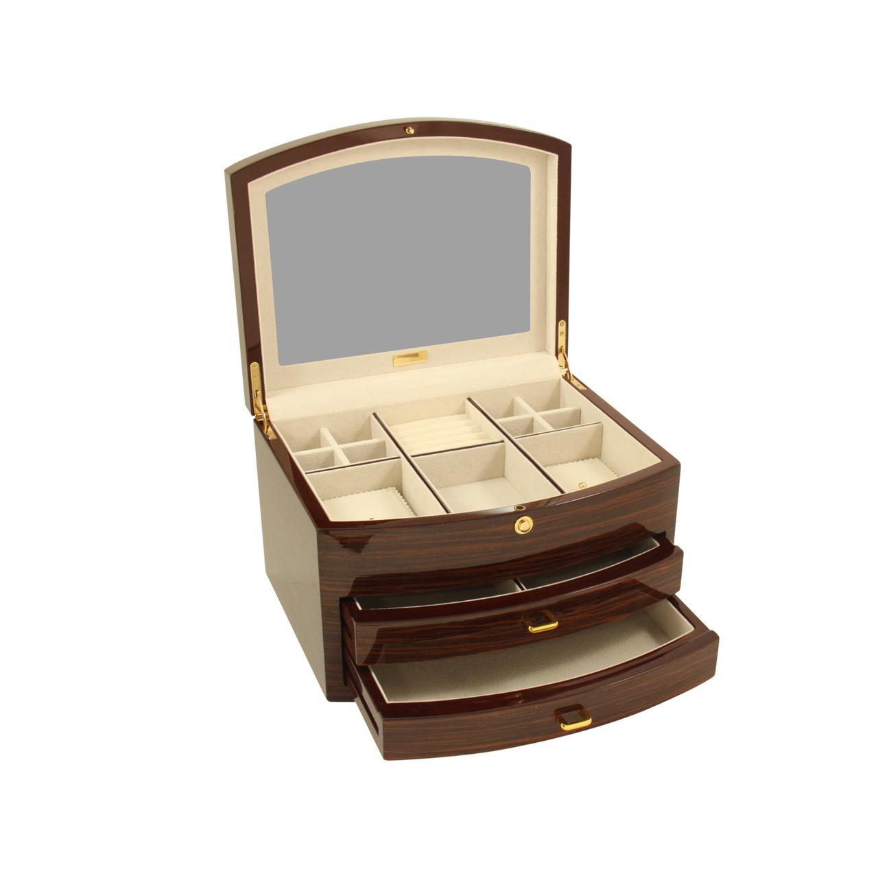 Zebra Wood Jewelry Box House of Clocks